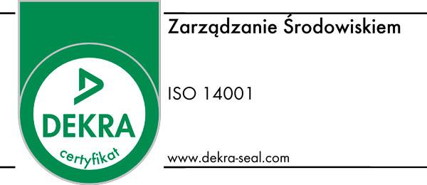 Certyfikat Dekra 14001 Zarządzanie Środowiskiem