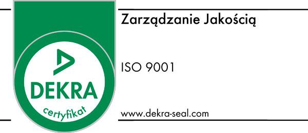 Certyfikat Dekra 9001 Zarządzanie Jakością